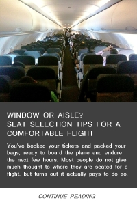 Seat Selection Tips for a Comfortable Flight - May14