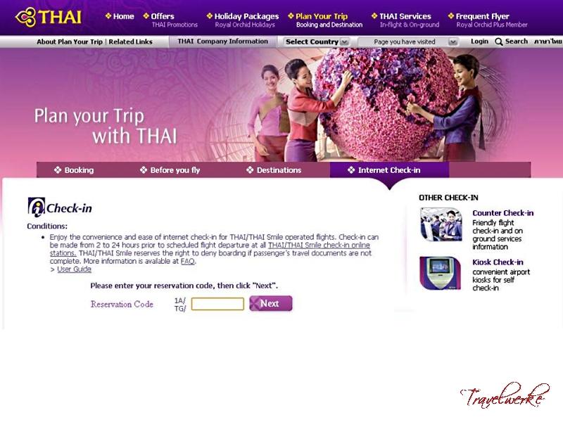 Thai Airways International 409, BKK – SIN | Travelwerke