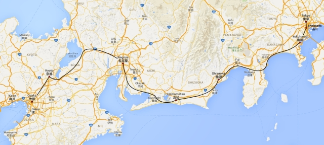 TokaidoShinkansen_Map